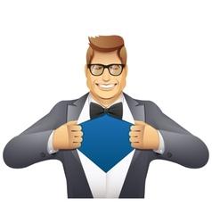 businessman superman vector image