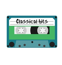 Cassette classical hits vector image