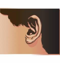 ear illustration vector image vector image