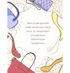 Fashion shopping card vector image vector image