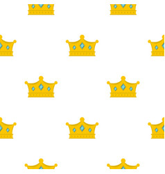 prince crown pattern flat vector image vector image