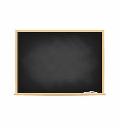 school blackboard dirty black chalkboard with vector image