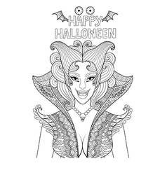 happy halloween coloring vector image