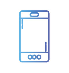line smartphone technology to call and talk vector image