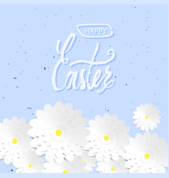 quote happy easter day background design the vector image vector image