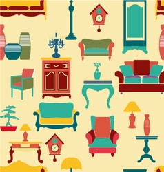 Vintage style home living furniture vector image vector image