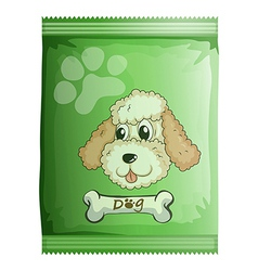 a pack of dog food vector image