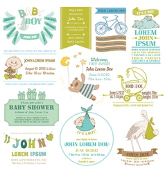 baarrival and shower collection vector image