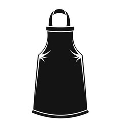 Barber apron icon simple style vector