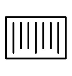 Barcode pixel perfect thin line icon 48x48 vector
