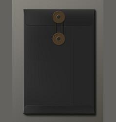 Black paper a4 or c4 size envelope vector