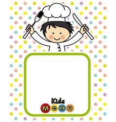 boy chef vector image