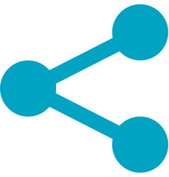 business networking share link icon vector image