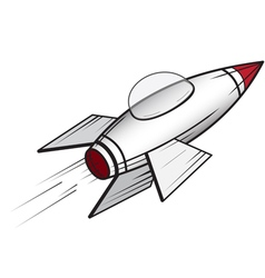 Cartoon space craft 1 vector