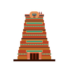 Chennai city monument indian on white background vector