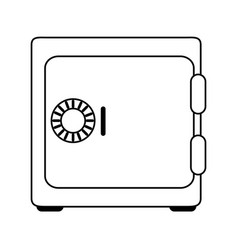 Closed security box vector