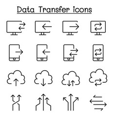 data transfer internet network connection icon vector image