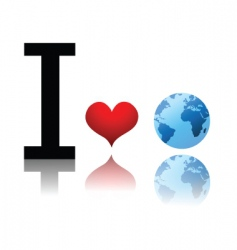 earth love vector image