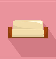 english sofa icon flat style vector image