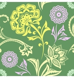Ethnic Floral Seamless Pattern11 vector image