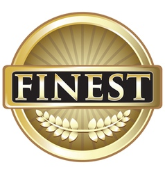 Finest Pure Gold Label vector image