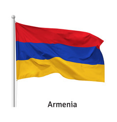 Flag republic armenia vector