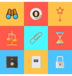 Flat icons for organization outsourced vector