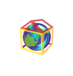 friendly small planet is in the house it is cozy vector image