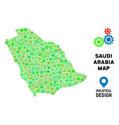 Gears saudi arabia map composition vector