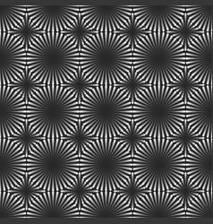 geometric linear shapes seamless pattern metallic vector image