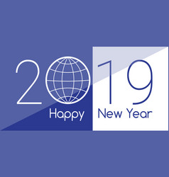 greeting card for the new year 2019 on a vector image