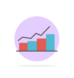 growth chart flowchart graph increase progress vector image
