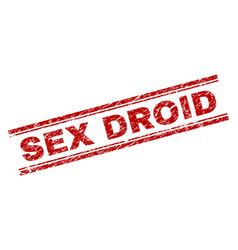 Grunge textured sex droid stamp seal vector
