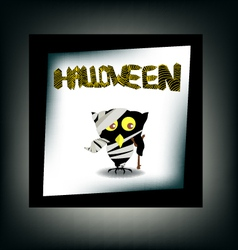 Halloween night background with castle and bird vector image vector image