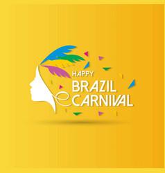 happy brazilian carnival day colorful carnival vector image