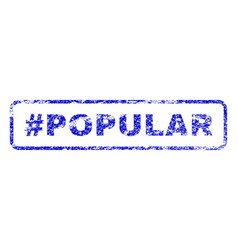 Hashtag popular rubber stamp vector