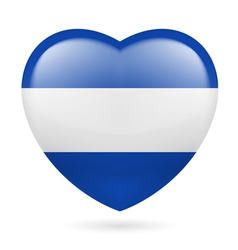 Heart icon of El Salvador vector