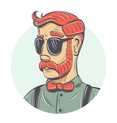 hipster portrait vector image