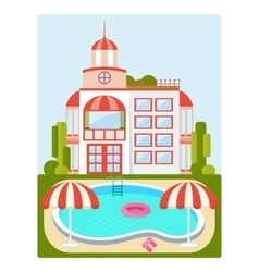 house with pool vector image