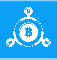 how work cryptocurrency network circular flat vector image