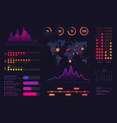 infographic dashboard template data screen with vector image