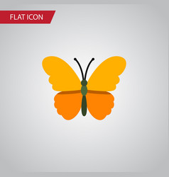 isolated danaus plexippus flat icon butterfly vector image
