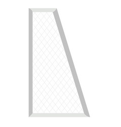 isolated soccer net vector image