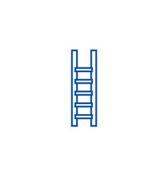 ladderstairs line icon concept ladderstairs vector image