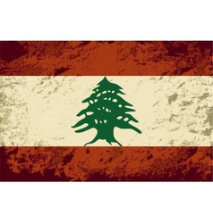 Lebanese flag grunge background vector