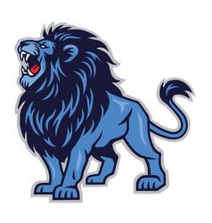 Lion roaring mascot icon logo template vector