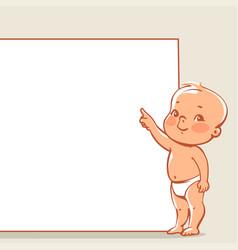 little baby near banner vector image