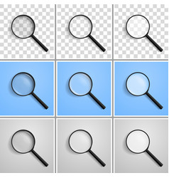 magnifying glass at angle of 45 degrees left vector image