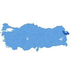 Map of Turkey Igdir vector