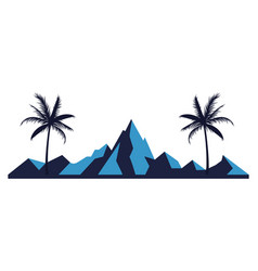 mountain landscape retro vector image